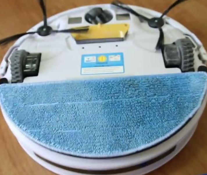 robot laveur vu du-dessous