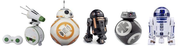 gamme complete jouets robots droides saga star wars