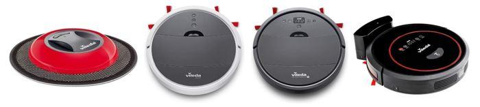gamme de robots aspirateurs de la marque Vileda