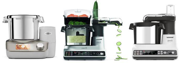 gamme de robots cuiseurs de la marque kenwood