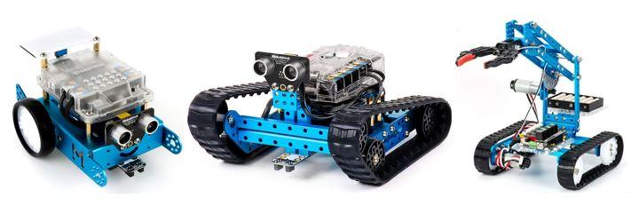 gamme robots jouets programmables mBot du fabricant Makeblock