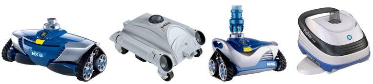 selection de robots de piscines hydrauliques