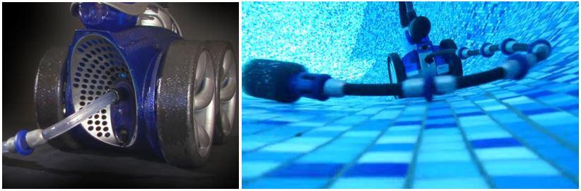 robot a pression pulseur dans une piscine