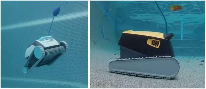 robot electrique dans une piscine