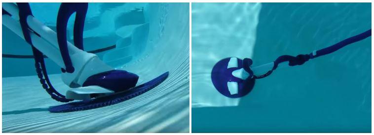 robot hydraulique dans une piscine