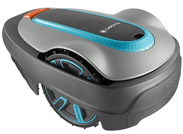 robot tondeuse Sileno city 300 de la marque Gardena pour tondre des terrains jusqua 300m2